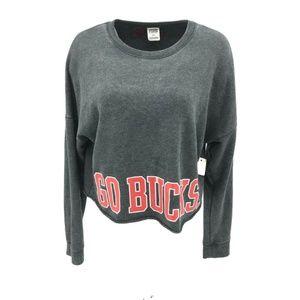Victoria's Secret Go Bucks Cropped Sweatshirt Sz M